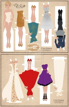 Taylor Swift Paper Doll by Cor104.deviantart.com