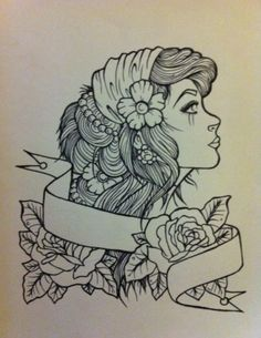 profile traditional tattoo - Google Search