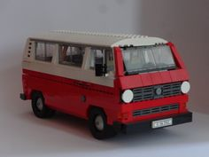 Lego VW Bulli T3 Vw Bus, Volkswagen, Transporter T3, Lego Truck, Lego Games, Lego Room, Lego Worlds, Lego Models, Lego Instructions
