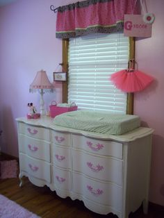 Dresser upcycled by Klutter for the nursery.  I love it!