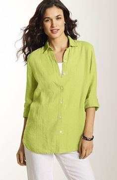 J Jill Fall Catalog Linen   linen big shirt from J.Jill