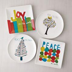 Christmas: Square Dessert Plates