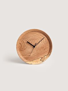 Oak Wall Clock by Yoshiki Yamazaki for RetRe/Block Design