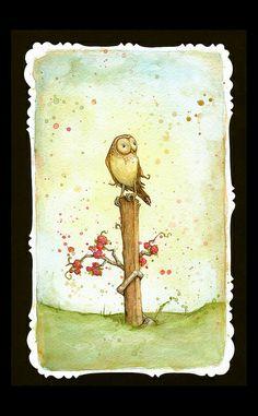beautiful owl by Leontine Greenberg