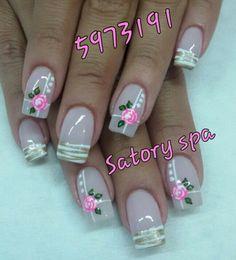 Nail Art Diy, Diy Nails, Long Acrylic Nails, Nail Tutorials, Prado, Nail Arts, Nail Art Designs, Finger, Beauty
