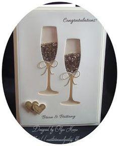 My Visual Poetry: Wedding Shaker Card . My Visual Poetry: Wedding Shaker Card Plus. Wedding Cards Handmade, Greeting Cards Handmade, Handmade Engagement Cards, Love Cards, Diy Cards, Wedding Anniversary Cards, Card Wedding, Happy Anniversary, Boho Wedding