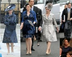 Wedding guests:  L to R: the Duchess of Gloucester, the Countess of Ulster, Lady Rose Gilman, Lady Davina Lewis