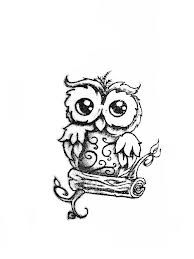 essentially my tattoo. only mine isnt as cartoonish. baby owl tattoos - Google Search