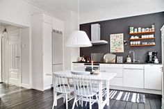 Kitchen with hearty dining