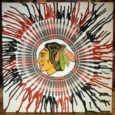Blackhawks crayon art