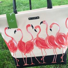 """Kate Spade Flamingo Bon Shopper New with tags! Measures 16""""x13""""x5"""" with an 8"""" strap drop. kate spade Bags Totes"""