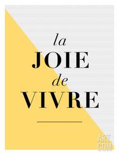 La Joie De Vivre Yellow Print