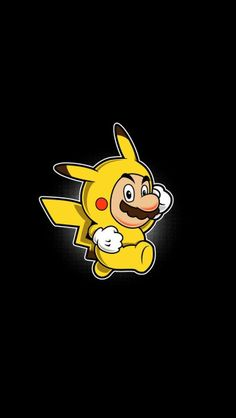 Mario Bros loves Pikachu