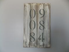 Distressed Wooden Anniversary Sign - Custom Made by BurlapAve on Etsy