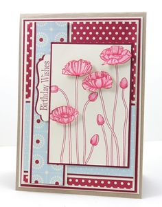 Sweet Sunday Sketch 174 ...Pleasant Poppies...one of my favorite stamps