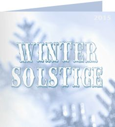 Antoinette, thank you for taking action on winter solstice. 'Winter is a season of recovery and preparation.' ~ Paul Theroux