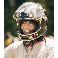 Beautiful smile, beautiful helmet.