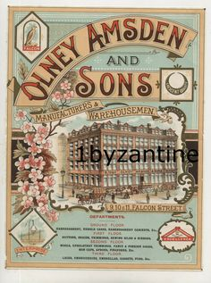 One off chance to buy such a rare label, only one available. Haberdashery, Sons, Advertising, Label, London, Building, Ebay, Buildings
