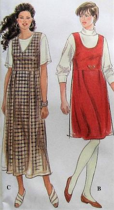 Jumper Sewing Pattern UNCUT Simplicity 9755 Sizes 6-8