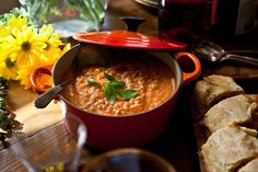 Farro and Fresh Tomato Soup With Basil