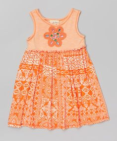 Look at this Orange Floral Dress - Toddler & Girls on #zulily today!