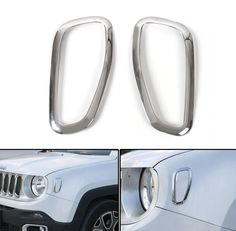 Mad Hornets - ABS Chrome Front Singal Light Lamp Cover Frame Trims JEEP Renegade 2015-2016, $22.99 (http://www.madhornets.com/abs-chrome-front-singal-light-lamp-cover-frame-trims-jeep-renegade-2015-2016/)