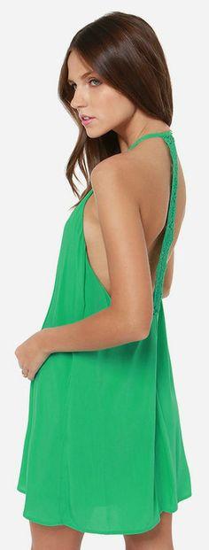 Green Crochet Dress #spring #fashion