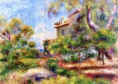 Villa at Cagnes / Pierre Auguste Renoir - circa 1910-1912