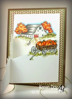 Tri fold fall set Comes in a set or sold separately  made by Art Impressions Rubber Stamps, All items can be purchased in my ebay Store Pat's Rubber Stamps & Scrapbooks or call me  423-357-4334 and place an order,  or come by 1327 Glenmar Ave. Mt Carmel, TN 37645,  We take PayPal.  You get free shipping with the phone orders of $30.00 or more