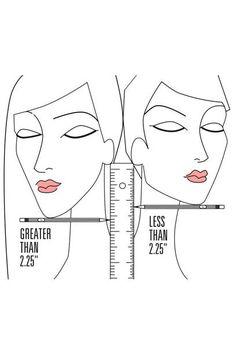 DIE 5,7-ZENTIMETER-REGEL Legen Sie einen Bleistift unter ihre Kinnspitze und messen den Abstand von dort bis zum Ohrläppchen, um zu ermitteln, ob Ihnen eher kurzes oder langes Haar steht. 2,25 Inch entsprechen ca. 5,7 Zentimetern