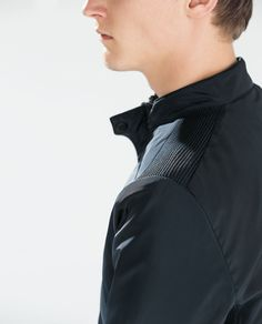 Image 6 of BASIC NYLON JACKET WITH TOPSTITCHED SIDES from Zara