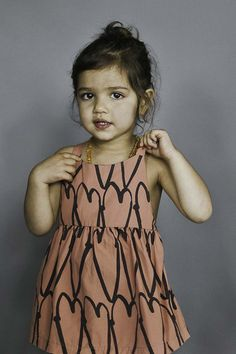 Shop Beau Loves baby dress in coral woven cotton with love hearts print & crossover back straps from 'Summer Of Love' collection. Toddler Fashion, Kids Fashion, Cute Christmas Outfits, Kid Styles, Baby Love, Cotton Dresses, Cute Kids, Baby Dress, Kids Outfits