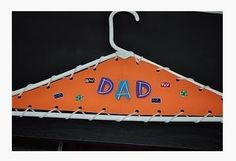 Therapy Craftivity of the Week: Clothes Hanger for Dad! - Pinned by @PediaStaff – Please Visit  ht.ly/63sNt for all our pediatric therapy pins