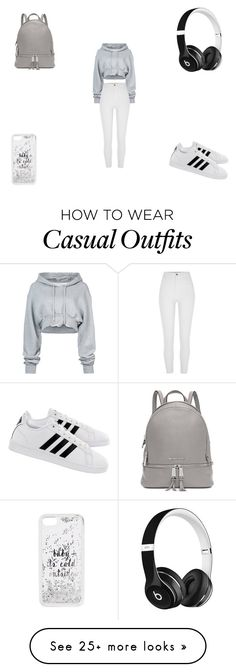 """Casual"" by wjazmine878 on Polyvore featuring Off-White, River Island, adidas, Kate Spade, Michael Kors and Beats by Dr. Dre"