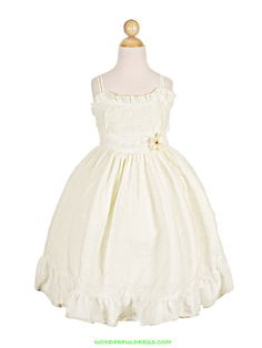 Ivory Lovely cotton eyelet Girl dress