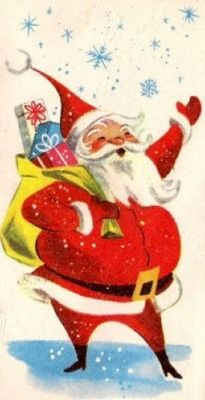 I am obsessed by old Christmas images! Vintage Christmas Images, Old Christmas, Old Fashioned Christmas, Retro Christmas, Vintage Holiday, Christmas Pictures, Christmas Greetings, Christmas Crafts, Father Christmas
