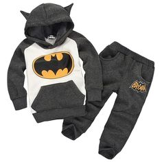 Great Deal $5.61, Buy New Batman Baby Girls Boys Clothing Sets Kids Autumn Spring Casual Cotton Suit Children Hoody Coat Tshirt Pants Clothes Set