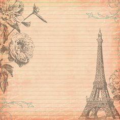 Free Digital Scrapbooking Paper Paris 2 by FPTFY