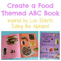 Make a Food Themed ABC Book from Coffee Cups and Crayons