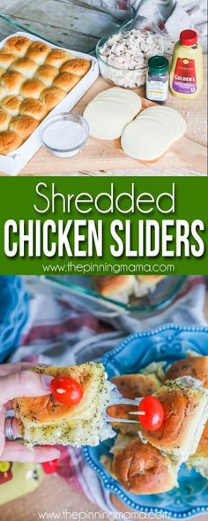 Shredded Chicken Sliders • The Pinning Mama