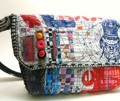 Upcycled Shoulder Bag Recycled Plastic Bags One by itzaChicThing