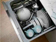 One-drawer dishwasher.  In a pinch I can always uae the dog.