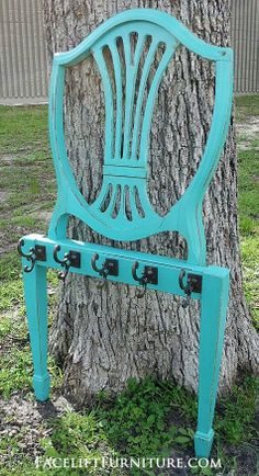 From the Facelift Furniture blog, read how an antique chair was transformed into a coat rack!