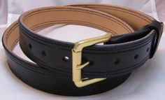 Leather+Gun+Belt+Double+Layer+Double+Stitched