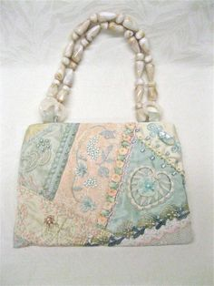 Purse Crazy Quilt Handbag Embroidery Beads by Cathyscrazybydesign, $129.00 - Created by Cathy Kizerian