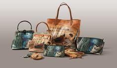Collezione di borse il pelle, Made in Italy da Terrida. Dipinti di Ornella Mastrogiovanni BALLERINA e CASANOVA