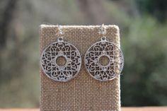 Peach Roots - Silver Circle Filigree Earrings, $12.50 (http://peachroots.com/silver-circle-filigree-earrings/)