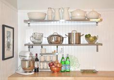 Kitchen: Astounding Chrome Decorative Kitchen Shelving With ...