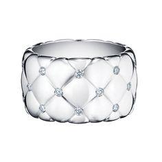 351ff75d57ab5 Fabergé Treillage White Gold Wide Diamond Ring  Fabergé  Treillage  diamond   ring Bijoux