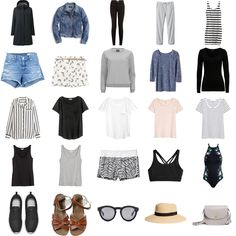 Travel capsule wardrobe for carry-on only family travel   Happy Grey Lucky
